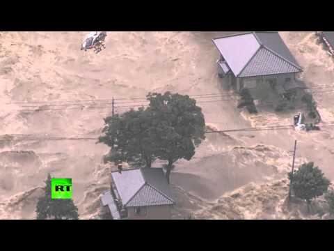 Tsunami-like wall of water after floods hit Japan, tens of thousands evacuated