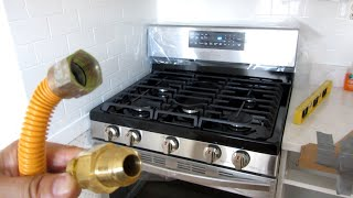 01. Samsung Gas Range Install | Step by Step Close Up View | How To