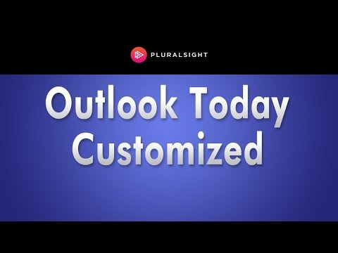 How to Customize Outlook Today
