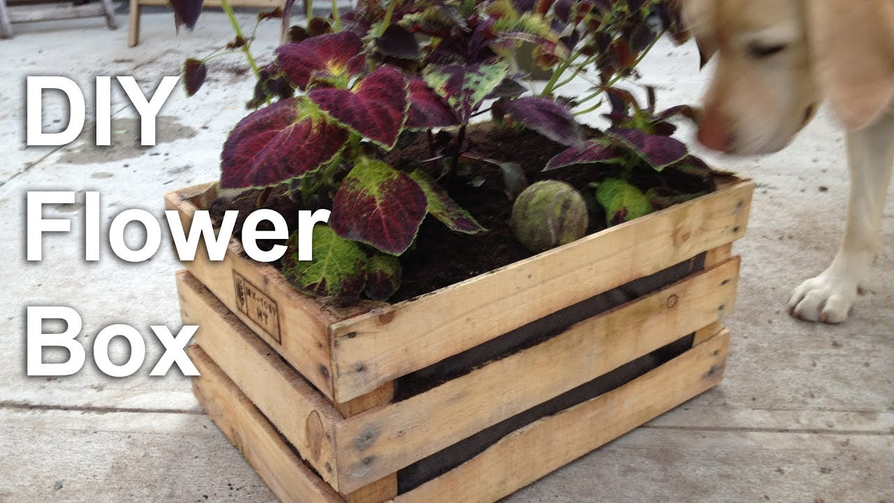 Diy flower box garden planter gardenfork tv youtube for How to make a flower box out of pallets