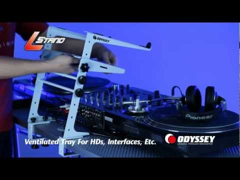 DJ Laptop Stand by Odyssey: White LSTAND & LSTANDTRAY accessory (also availale in 10 other colors)