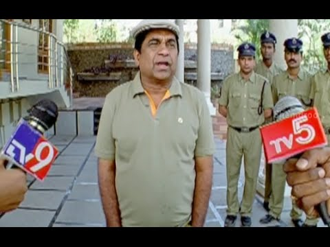 Badradri Full Movie Scenes - Brahmanandam Leaks His Master Plan To The Media - Nikitha, Raja video