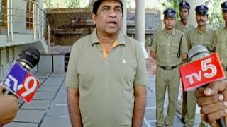 Master Plan - Badradri Full Movie Scenes - Brahmanandam leaks his master plan to the media - Nikitha, Raja