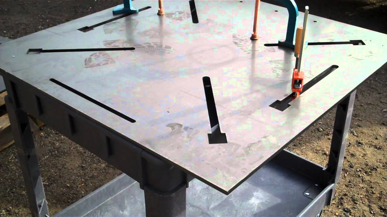 3 8 thick welding table with laser cut clamp slots youtube - Plan fabrication table ...