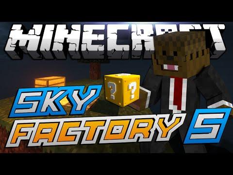 Minecraft Modded Sky Factory LUCKY BLOCKS Lets Play #5