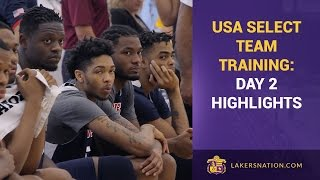 USA Team Training: Day 2, Lakers Highlights (Randle, Ingram, Russell)