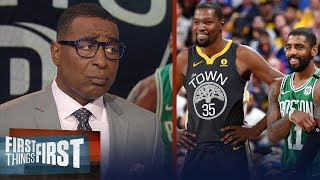 Kyrie's interest in Brooklyn is real, wants KD to join him - Cris Carter | NBA | FIRST THINGS FIRST