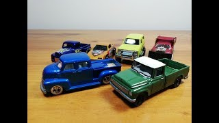 Hotwheels TM GM truck & Johnny Lightning1965 International Scout 1200 PICKUP Unboxing and Compare