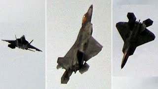 🇺🇸 Weirdest F-22 Raptor Freefall Floating Flight & Falling Leaf Manoeuvre.