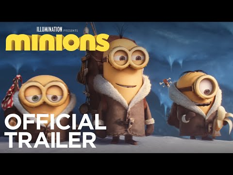 Meet Stuart, Kevin and Bob as they embark on a journey for their new master in the Official Trailer for Minions. In Theaters July 10, 2015 SUBSCRIBE: http://bit.ly/IlluminationSub About Minions:...