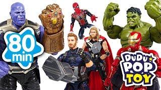 April 2018 TOP 10 Videos 80min Go! Avengers, Power ranger, PJmasks and Transformers - DuDuPopTOY