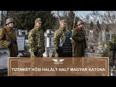 Tizenkét hősi halált halt magyar katona