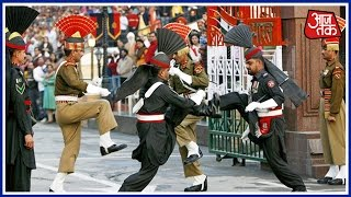 India - Pakistan Soldiers Fist Fight During Beating Retreat Ceremony