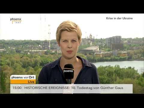 Referendum Ost-Ukraine: Nicole Diekmann mit aktuellen Informationen vom 11.05.2014