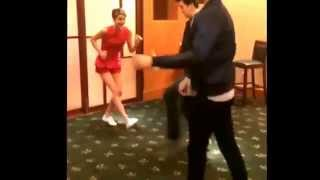 Ansel Elgort Shailene Woodley and Nat Wolff dancing