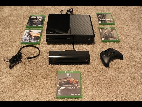 XBOX ONE UNBOXING VIDEO! Console, Kinect, Games, Controller more! (XB1 Day 1 Edition Black)