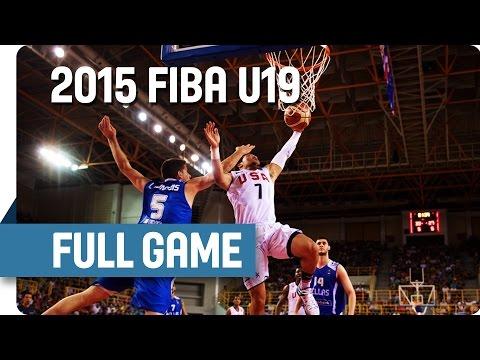USA v Greece - Semi Final - Full Game - 2015 FIBA U19 World Championship