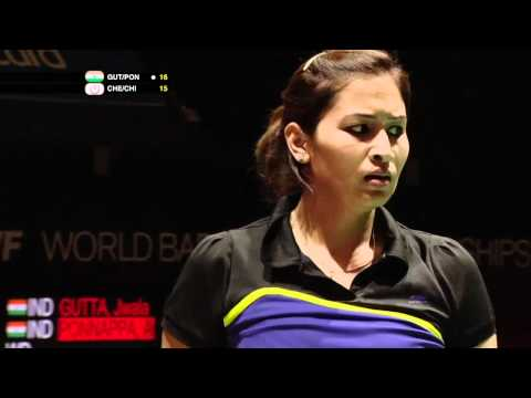 R32 (Day 2) - WD - J.Gutta/A.Ponnappa vs Cheng W.H./Chien Y.C. - Yonex BWF World Champs '11