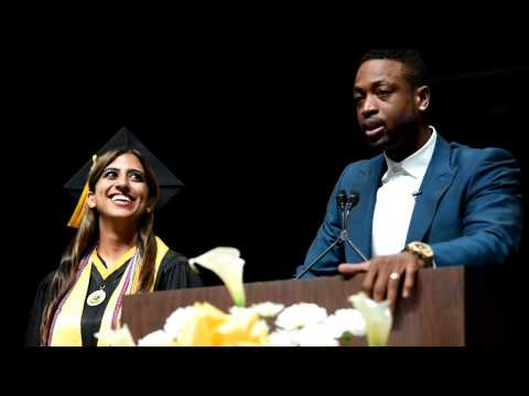 Miami Heat star Dwyane Wade surprises Western High School graduate