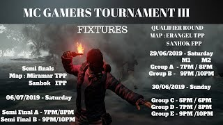 VIVO PUBG Tournament | QUALIFIERS 3 | MC GAMERS