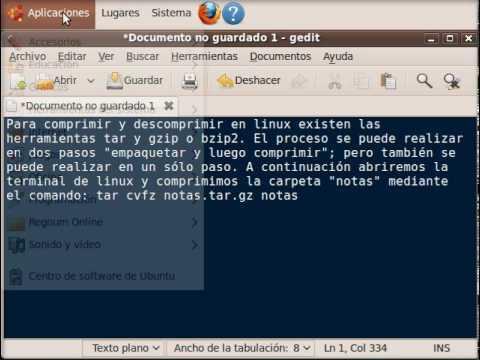 Comprimir y descomprimir en linux