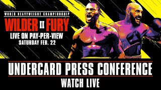 Wilder vs Fury 2 Undercard Press Conference | Watch Live