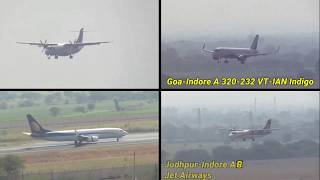 Plane Spotting Indore Devi Ahilyabai Airport Landing and Taxing A 320 B 737 ATR 72