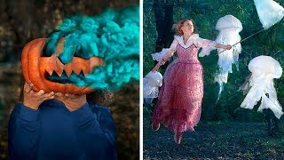 19 Creative Photo Tricks! Scary Halloween Photo Hacks!