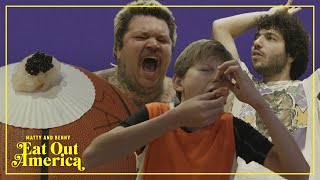 World's First Game Of Sushi Basketball With Mason Ramsey | Matty and Benny Eat Out America | EP 3