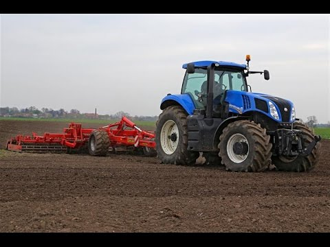 High speed action | New Holland T8.390 & 8m Opall-Agri preparing land | Poland