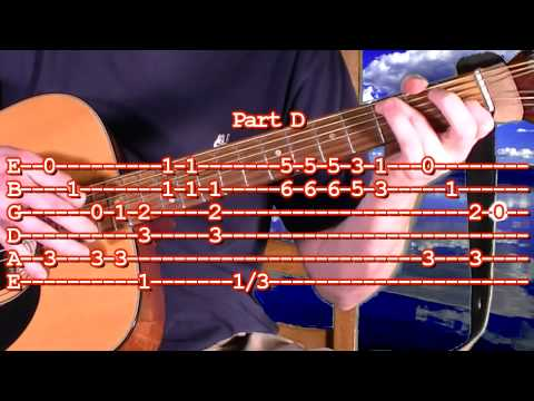 How To Play Super Mario Bros Guitar Tablature - Difficult Finger Picking Tab Lesson