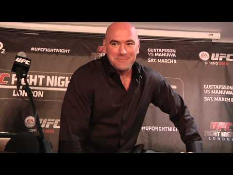 Fight Night London Dana White PostFight Presser Scrum