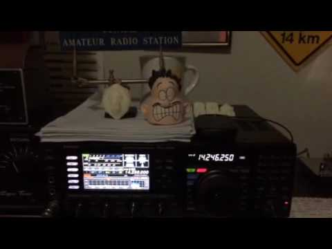 AB6ST radio contact with ZL1BD in New Zealand