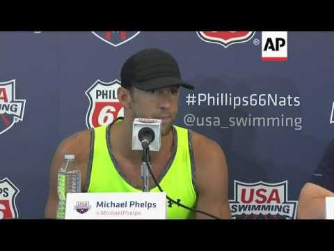 Three months into his comeback, Michael Phelps is competing at U.S. nationals for the first time in
