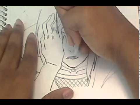 Видео как нарисовать Итачи карандашом