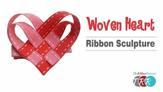 How to Make a Woven Heart Ribbon Sculpture - TheRibbonRetreat.com