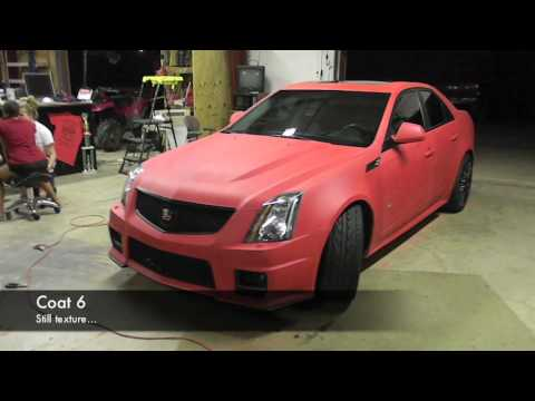 Plasti Dip Whole Car Matte Red Cadillac CTS-V