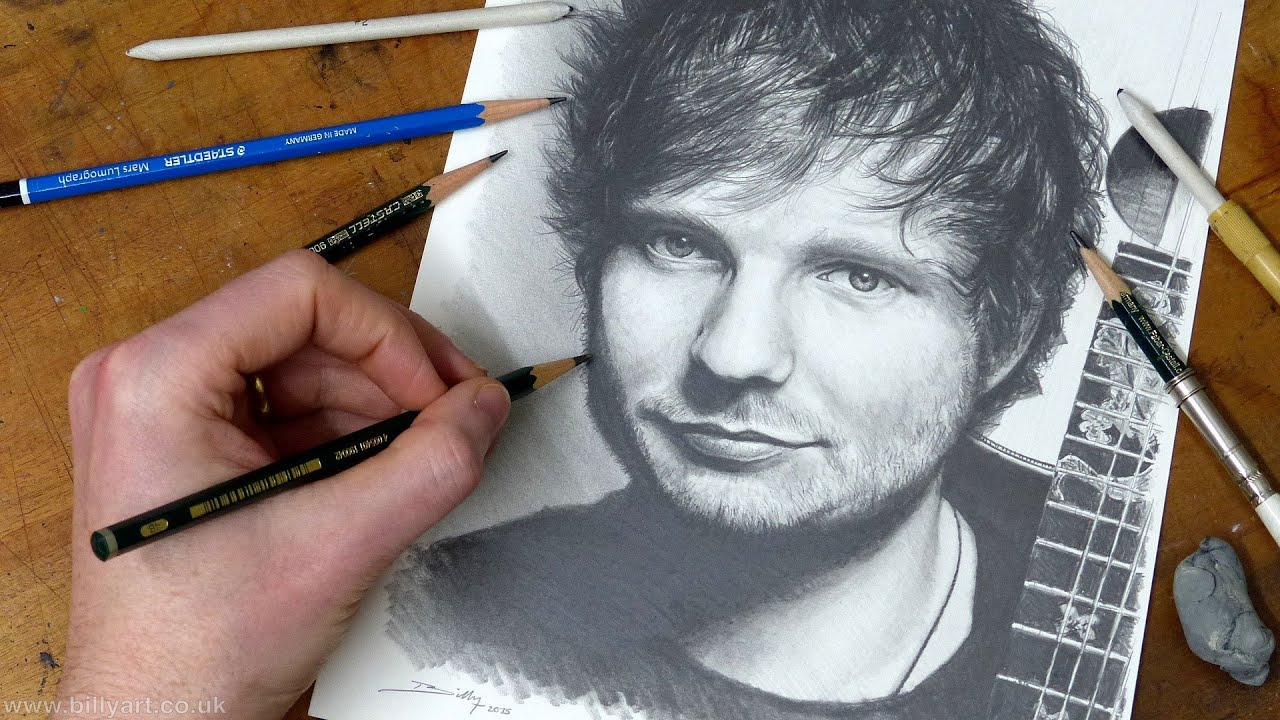 ed Sheeran Album Drawing Drawing ed Sheeran Timelapse