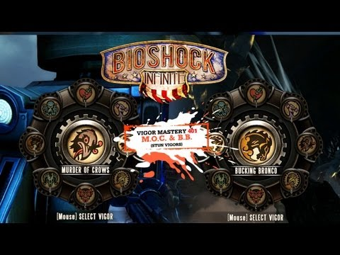 BioShock Infinite Vigor Tips & Strategy 401: Bucking Bronco & Murder of Crows (Stun Vigors)