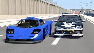 Crazy Police Chases #18 - BeamNG Drive Crashes
