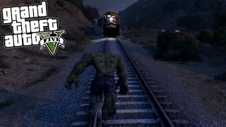 GTA 5 Mods - HULK vs THE TRAIN