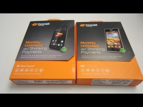 ZTE Warp Sequent & LG Venice Unboxing