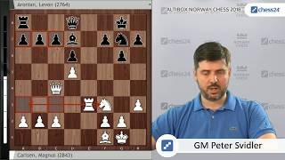 Carlsen-Aronian, Norway Chess 2018 - Svidler's Game of the Day