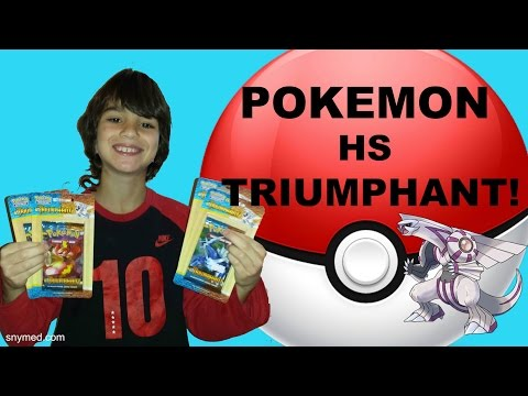 Pokemon HS Triumphant Booster Packs Opening Video! Cards from 2010! Jenna Em Channel