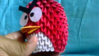 Finished Red Origami Angry Bird