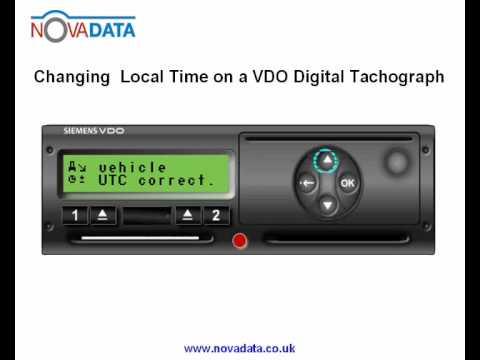 Digitaler Tachograph Vdo a Vdo Digital Tachograph