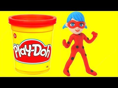 Ladybug Play Doh Cartoons Stop Motion Animations Frozen Elsa Mermaid Masha & More!