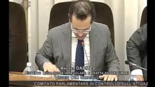 Roma - Audizione Organizzazione internazionale per le migrazioni (27.05.14)