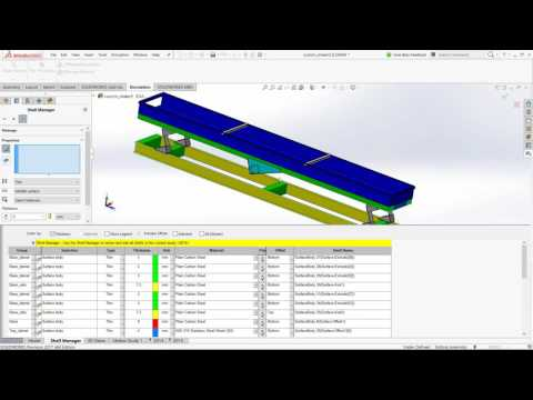 Why SolidWorks Simulation - Easy handling of large models that need to represented by Shell elements