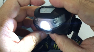 Sunshine USB rechargeable red and white LED super bright flashlight Headlamp Review and Giveaway